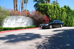 Limo service at Parker Hotel in Palm Springs, California