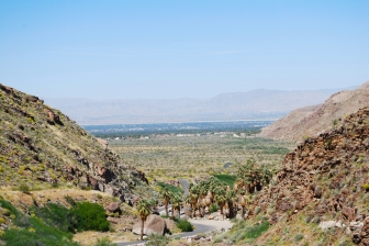 View of Palm Springs from Palm Canyons.
